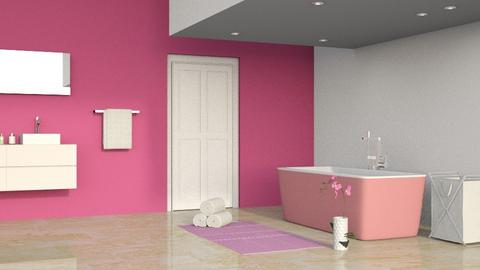 Yellow Bathroom Remix - Modern - Bathroom  - by KatDesign9