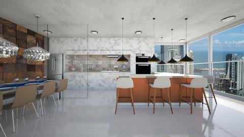 kitchen Marmol - Modern - Kitchen  - by aletamahi