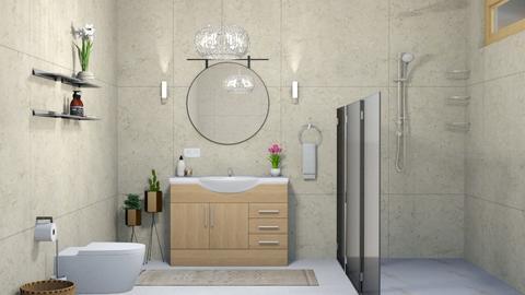 bathroom light word tiled walls - by elhamsal24