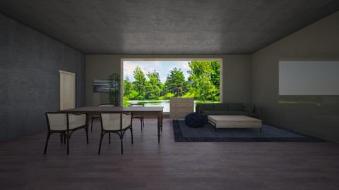 Dark Apartment - Living room  - by lianlv