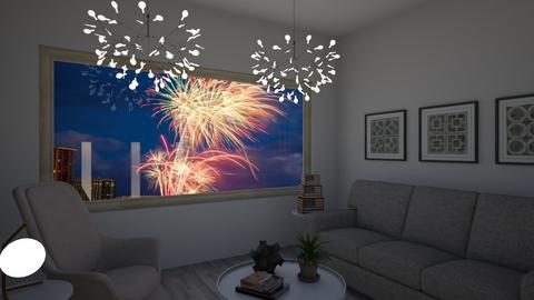 fourth of july - Living room  - by avawrightthewrightone