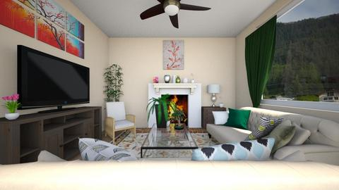 bohemian spring - Living room  - by this_guy