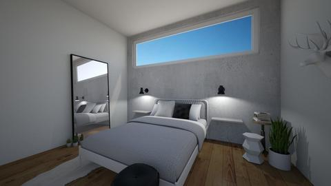 minimalistic bedroom - Minimal - Bedroom  - by oggienarna