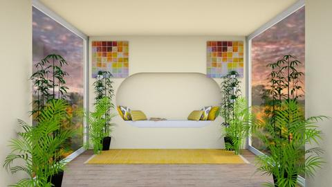 Sunflower Bedroom - Bedroom  - by dogsrmylife