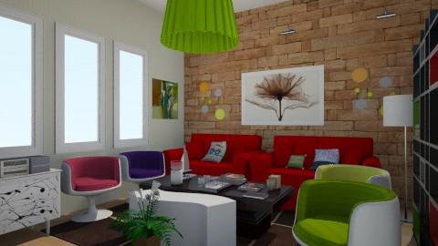 Colors - Retro - Living room  - by Debora Cris