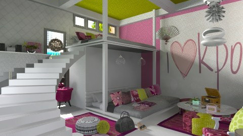 Korean Pop Culture - Bedroom  - by myideas interiors