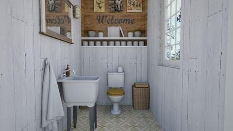 arty toilet room - Bathroom  - by Charipis home