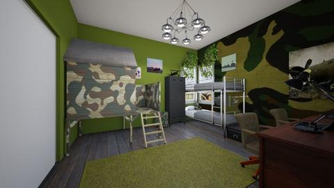 Army Theme - Kids room  - by SammyJPili