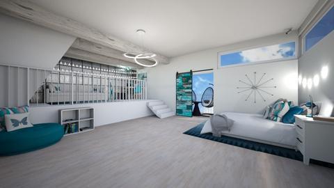 CR Teal Attic Bedroom - Bedroom  - by weinsteinkids