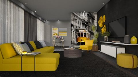 Follow the yellow - Minimal - Living room  - by Claudia Correia