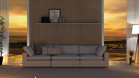 The wooden wall - Living room  - by Thepanneledroom