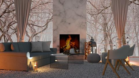 Winter Times - Living room  - by KittyT6