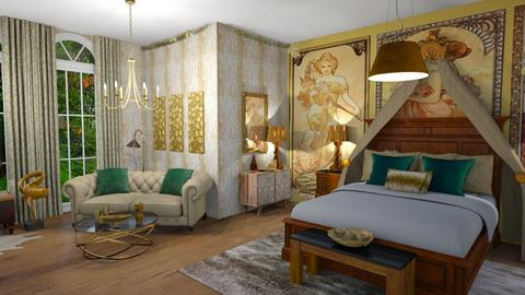 art nouveau - Bedroom  - by ashpashly