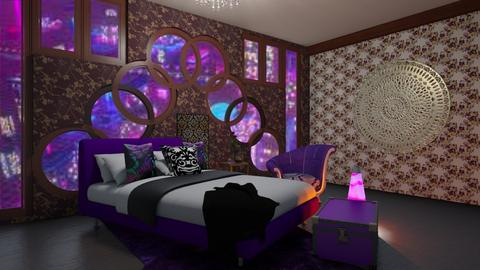 purple pattern bed_remix - by noadesign