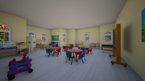 pre school - Kids room - by PAULA avila