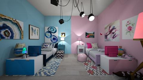 Twin Room - Feminine - Kids room  - by deleted_1588309730_ Koilee Bear