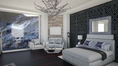 Silver_white_beroom - Glamour - Bedroom  - by Gre_Taa