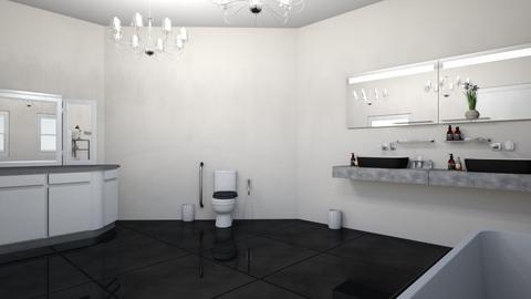 Black and white marble br - Bathroom  - by Zgrainger980