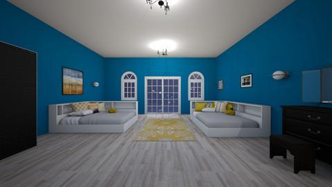 blue bedroom - Classic - Bedroom  - by nguyentranynhi