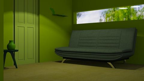 Green 4 - Living room  - by designkitty31