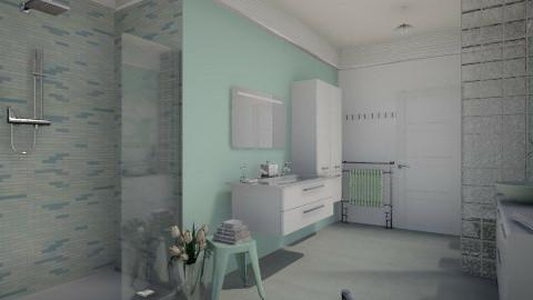 mint shower - Bathroom  - by miadesign