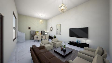 Beige n Brown living room - Living room  - by fathimazainab106