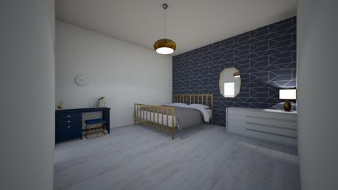 Navy_Gold colour theme - Bedroom  - by xeniaaa