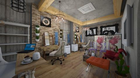 Barber s_Hair_Salon_ - Vintage - Living room  - by Nikos Tsokos