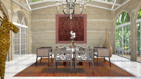 Conservatory Dining - Eclectic - Dining room  - by AlSudairy S