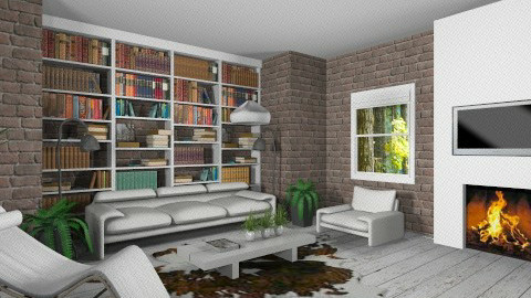 The Contest2_White - Eclectic - Living room  - by Theadora