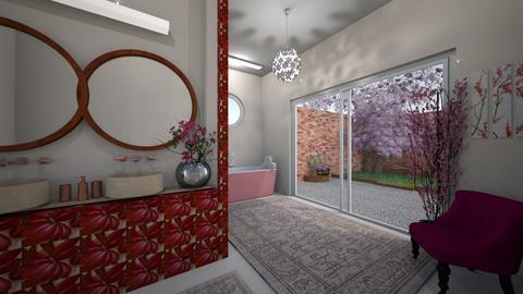 Cherry Blossom Bathroom - Bathroom  - by Themis Aline Calcavecchia