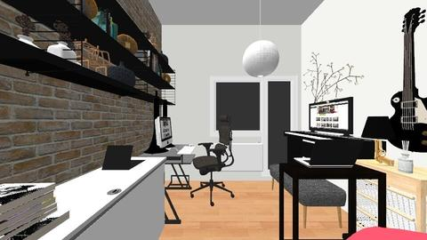 Small entertainment room - Masculine - Office - by Ashlyn Julia