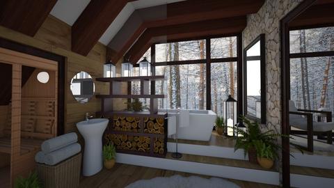 Alpine Resort Bathroom - Bathroom  - by Brenda DeVries