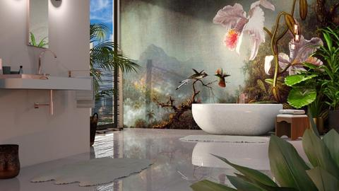 Martin Johnson Heade Urban Jungle Bath - Bathroom  - by GraceKathryn