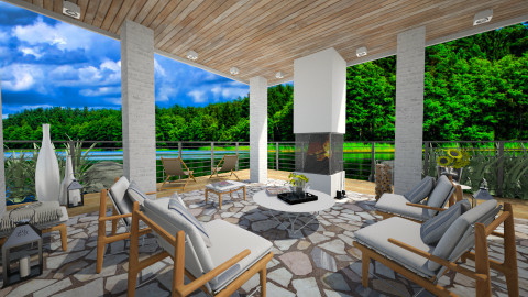 Lakeside patio - Garden  - by Thrud45