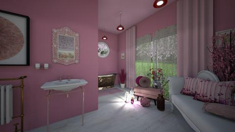 Cherry Blossom Bathroom - Bathroom  - by What Inspires Me