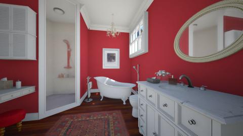 A red - Bathroom - by Maria_Julia