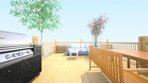 Outdoor space Luxury - Modern - Garden - by disneykid52