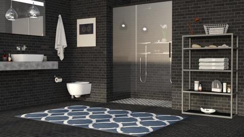 B702 Bricks - Minimal - Bathroom  - by millerfam
