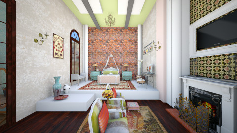 Colonial 2 - Eclectic - Bedroom  - by decordiva1