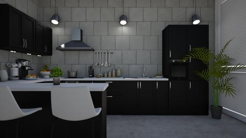 Gray Kitchen - Kitchen - by Briianaaa