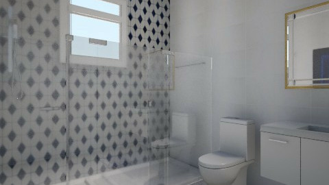 Blue - Modern - Bathroom  - by Debora Cris