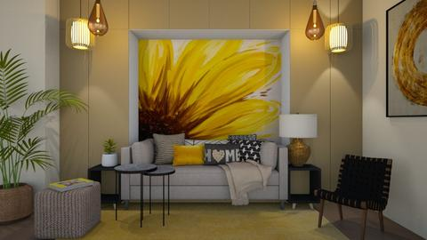 Sunflower - Living room  - by ElenaSpr