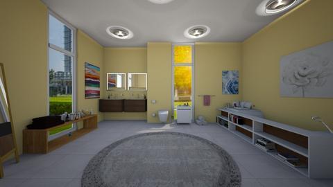 Yellow Bathroom - Minimal - Bathroom  - by deleted_1588309730_ Koilee Bear