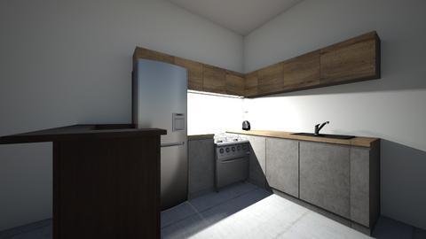 COCINA INFONAVIT - Kitchen  - by eberc