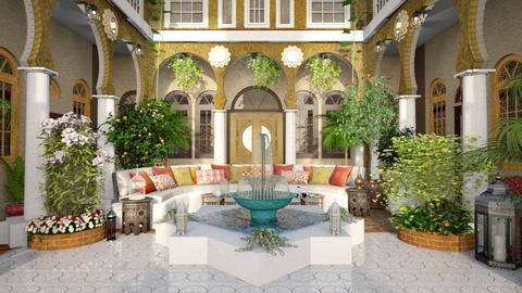 Moroccan Courtyard - by ZsuzsannaCs