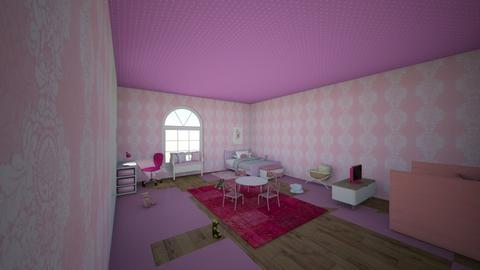 pink kid room - Modern - Bedroom  - by Nicowood5