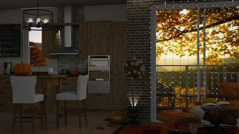 autumn in kitchen - Kitchen  - by cuneyt oznur