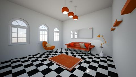 monochrmatic room orange - Living room  - by LHSHousing