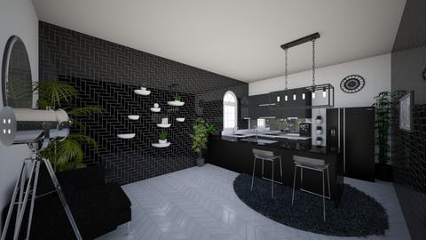 Black and White Kitchen - Modern - Kitchen - by RiaJane
